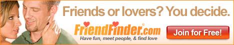 FriendFinder è il più grande sito per incontri personali con pi� di 1.657.555 membri iscritti. Questo sito è designato per i single in cerca d'amore, romanticismo e persino matrimonio. Il sito permette di chiacchierare in rete con gli altri membri che sono in linea